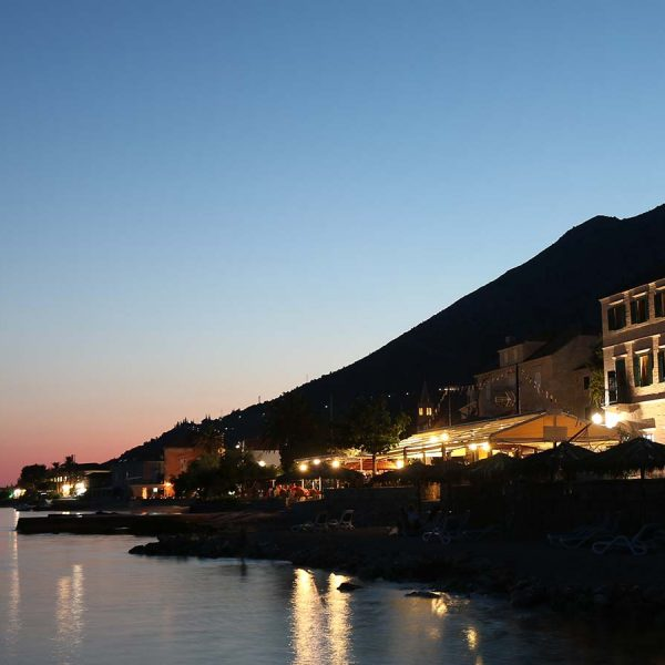 hotel adriatic orebic at sunset